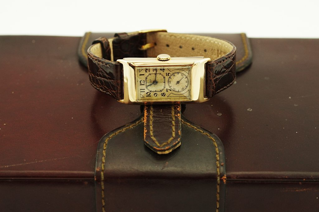Vintage Rolex with leather case