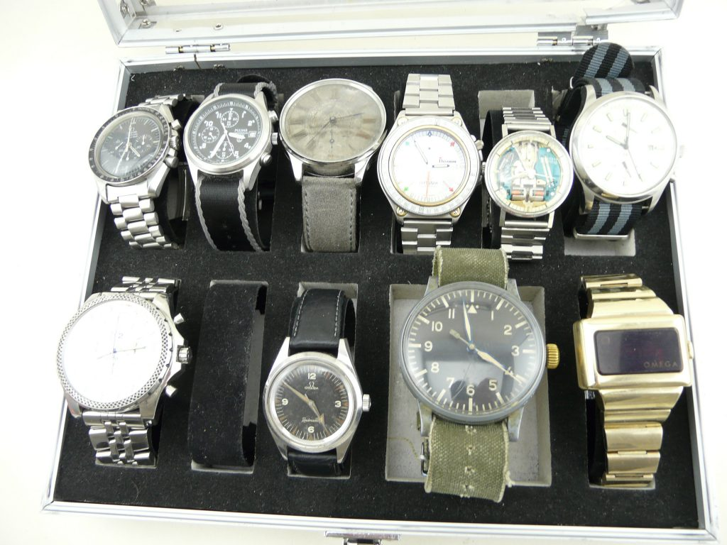10 of my favourite watches , Omega  ,Pulsar , Lemania , Bulova , Police , Breitling , Stowa